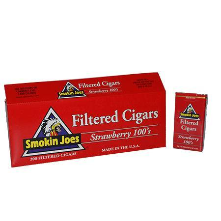 Smokin Joes Filtered Cigar Strawberry 100 Box