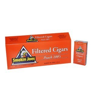 Smokin Joes Filtered Cigar Peach 100 Box