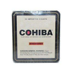 "Cohiba Minatures- Tin/10 (4.8""x24)"