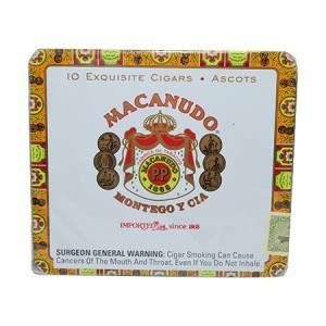"Macanudo Ascot Gold Label- Tin/10 (4.1""x32)"