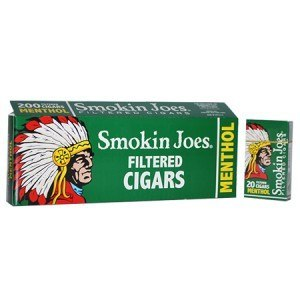 Smokin Joes Filtered Cigar Menthol 100 Soft Pack