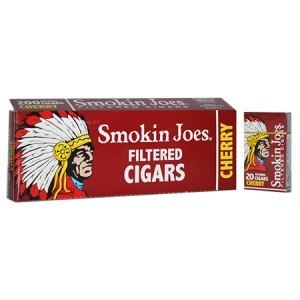 Smokin Joes Filtered Cigar Cherry 100 Box