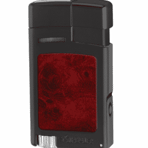 Xikar Forte Soft Flame Lighter Black w/ Burl